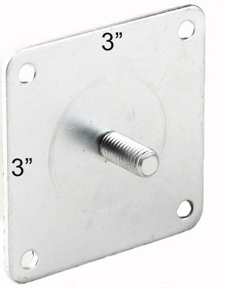 "SEDONA 4"", Style 3, w/steel plate, **Matte Aluminum**"