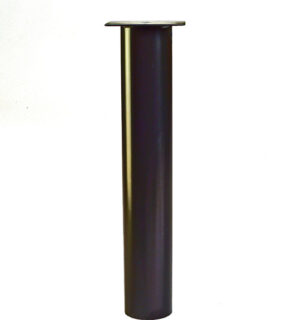 "3"" Diameter Table Leg, 6""x6"" welded plate, 38"" Height **BLACK**"