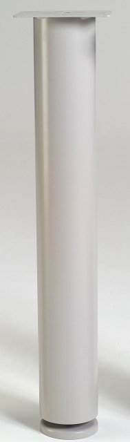 "4"" Diameter Table Leg, welded plate, 27 1/2"" Height **WHITE**"
