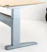 "501-11 Desk Frame, 330 lbs, 61"" L x 22"" W,   **SILVER**"