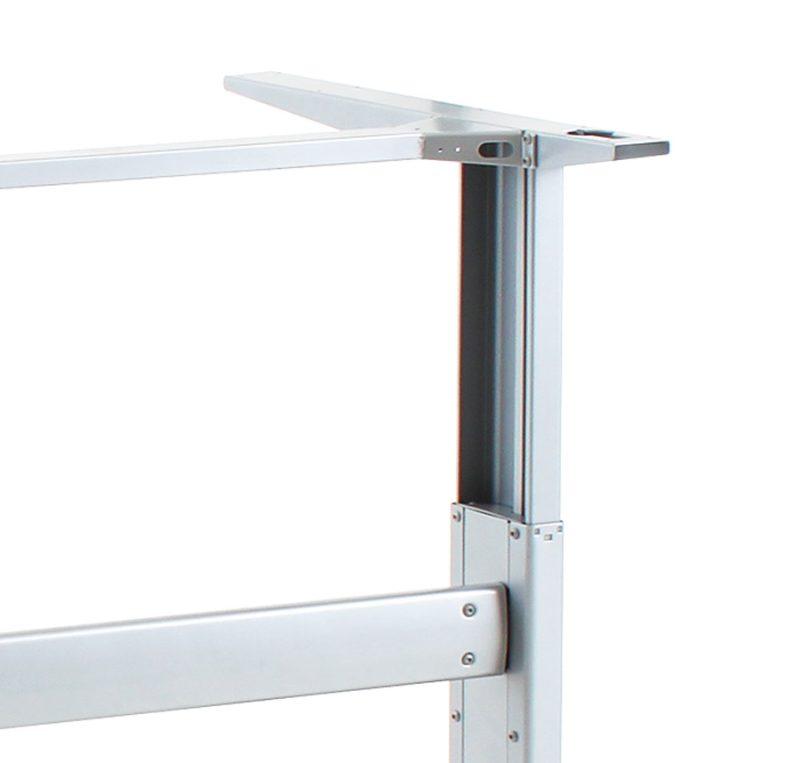 501-25 Desk Frame, 176 lbs lift capacity,   **SILVER**