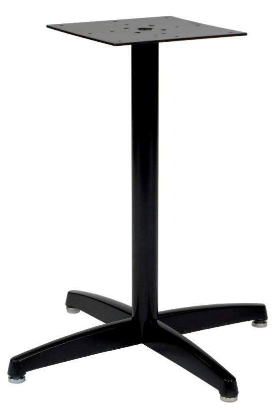 "DuraCast X Base, 2 1/4"" dia, 27 3/4"" height, 20""x20"" base spread,  BLACK  (non refundable)"