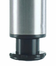 """VETRO Legs for Glass Tops, 2 3/8"""" Round, 27 3/4"""" Height, Set of 4"""