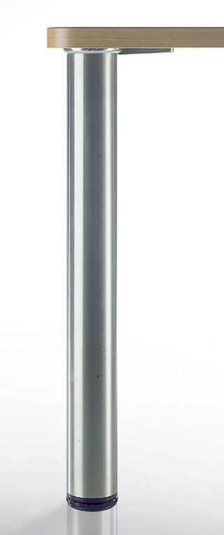 "LUGANO Steel Table Legs, 3"" Round, 27 3/4"" Height, Set of 4"