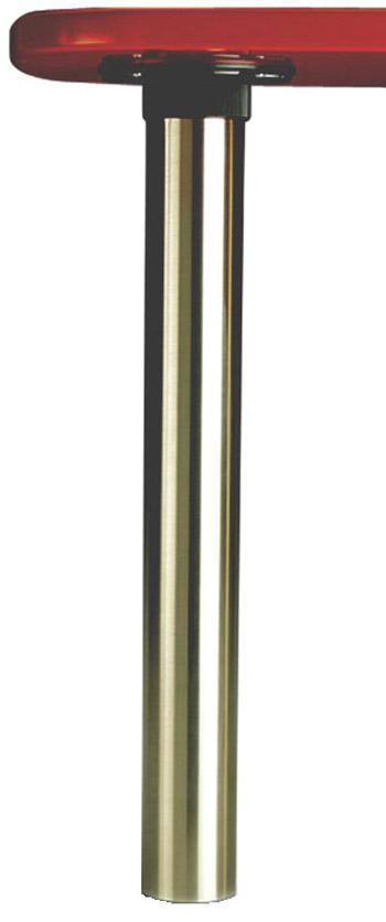 "ISOLA Island Table Legs - BRUSHED NICKEL, 27 3/4"" tall, 3"" dia, single leg"
