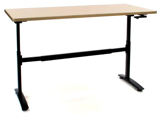 "1002 Manual Desk Frame, 26 1/2"" to 39 3/4"" Height,  **Black and Silver**"
