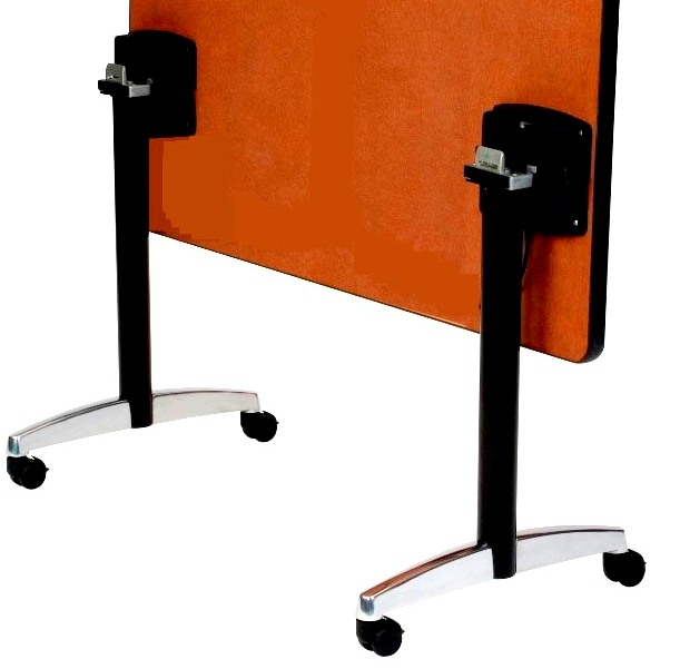 """Flip Top T-Bases, per PAIR, with casters, 27 3/4"""" height, 15"""" base spread,  BLACK"""