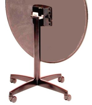 "Flip Top  X-Base, with casters, 27 3/4"" height, 20""x20"" base spread,  BLACK"