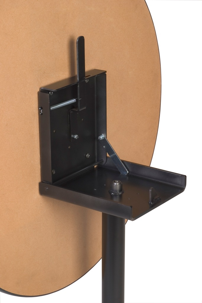 """Flip Top  X-Base, with casters, 27 3/4"""" height, 20""""x20"""" base spread,  BLACK"""