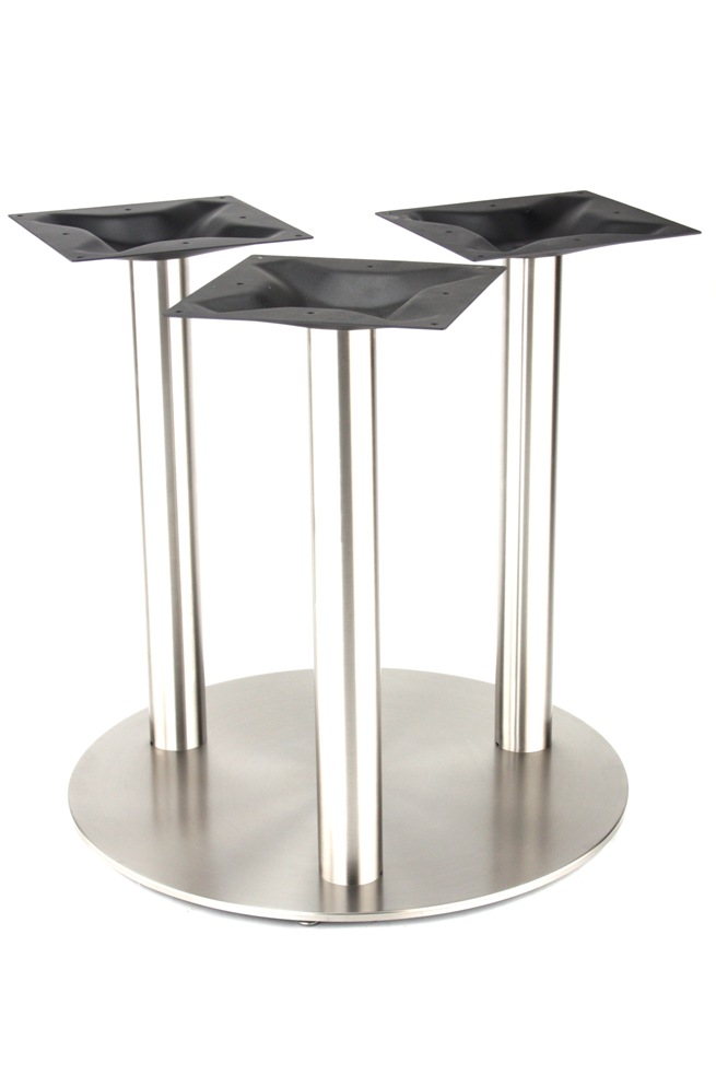 "30"" ROUND Stainless Base with 3 Legs"