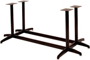 "SUPER LARGE 4-Column  X Base, 2 1/4"" dia, 27 3/4"" height, 38""x38"" base spread,  BLACK  (non refundable)"