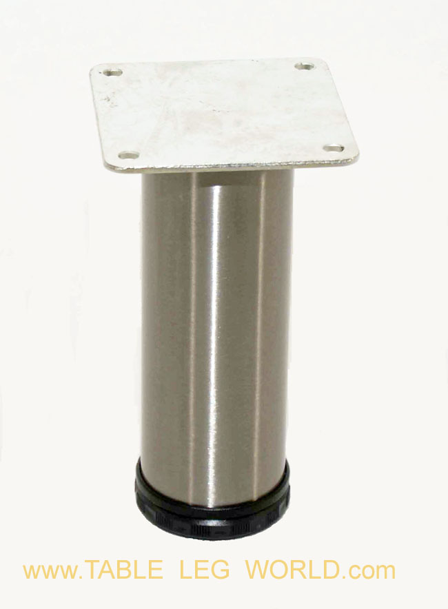 "Como 2"" Round Steel Leg, 6"" Height"
