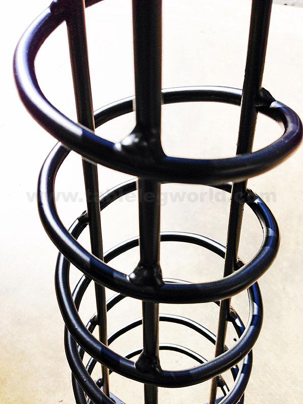 Hand Made Spiral Cone Leg, Angled, Single Leg