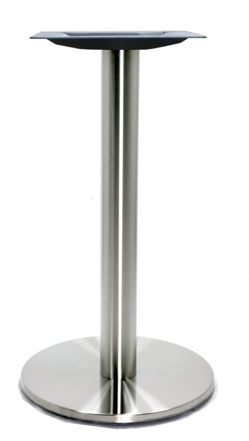 "18"" Round Table Base, Stainless Steel or Black Finish"
