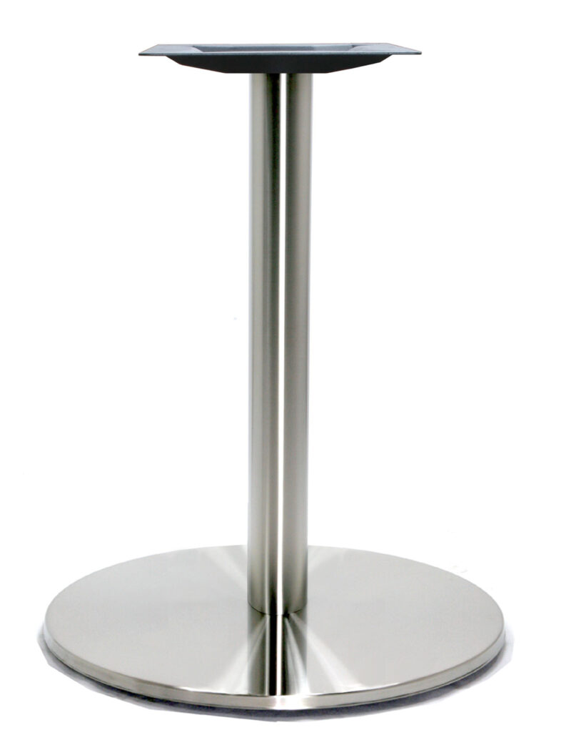 "21"" Round Table Base, Stainless Steel or Black finish"