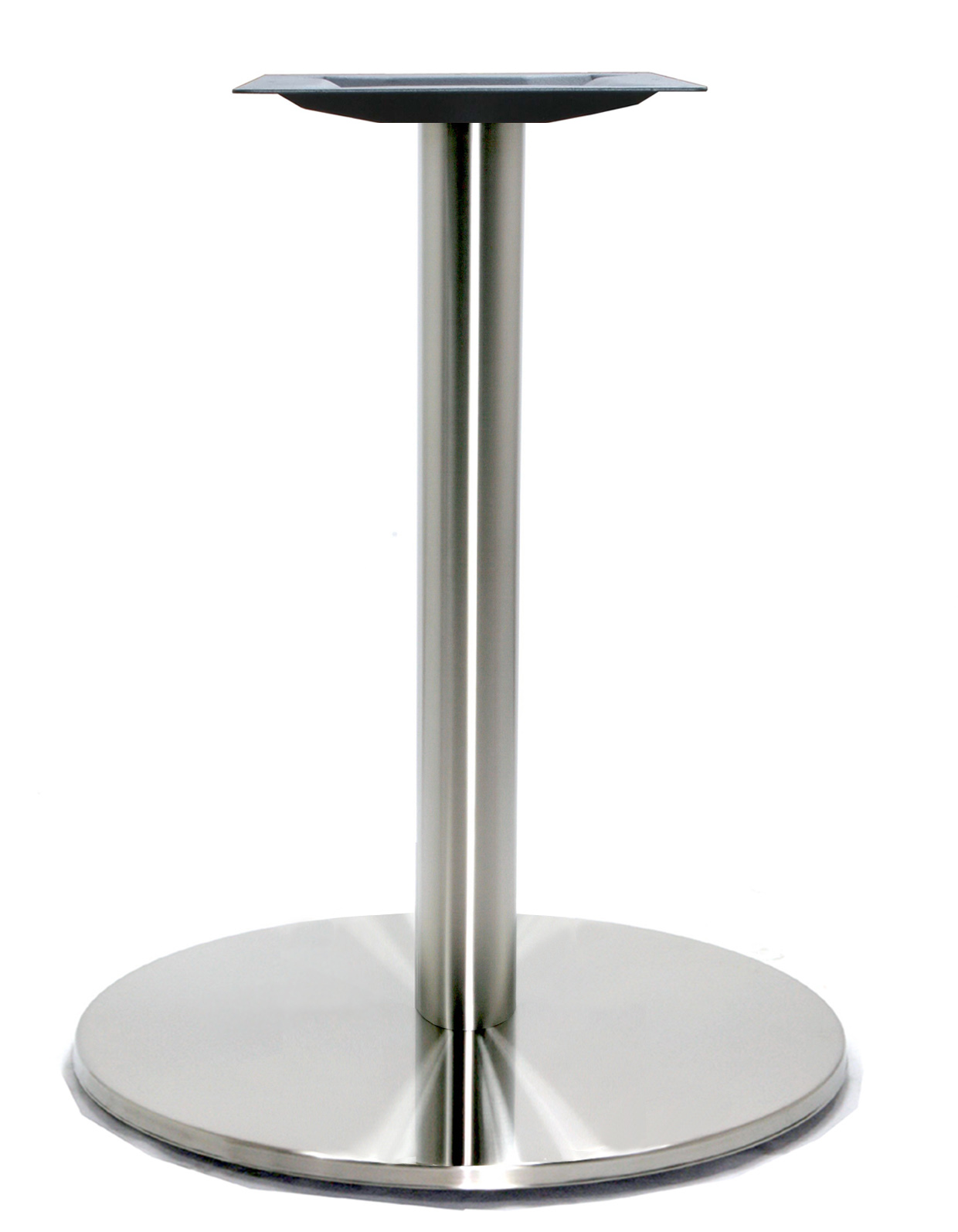 21″ Round Table Base, Stainless Steel Finish, up to 36″ Tops