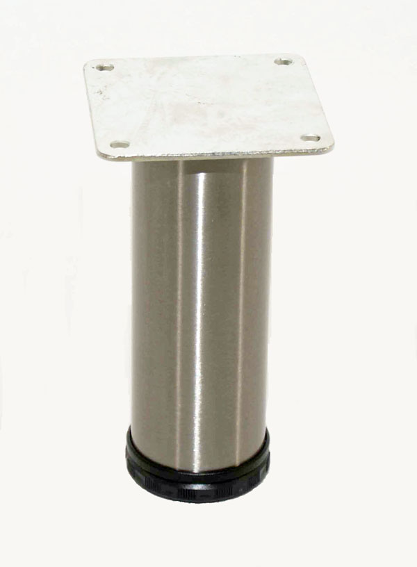 "Como 2"" Round Steel Leg, 4"" Height"