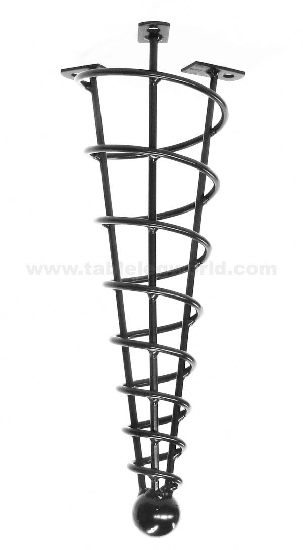 Hand Made Spiral Cone Leg, Straight, Single Leg