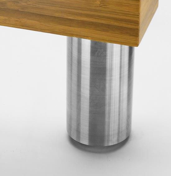 """PALERMO 2"""" Round Stainless Steel Leg"""