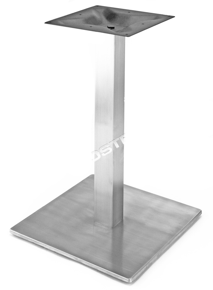 21″ SQUARE Table Base with square column, Stainless Steel