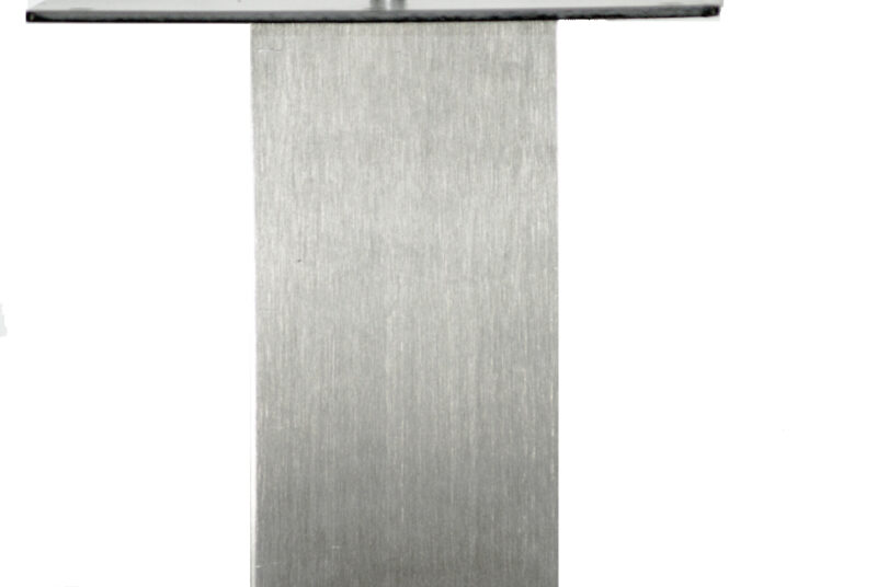 "18"" SQUARE Table Base with square column,  Stainless Steel"