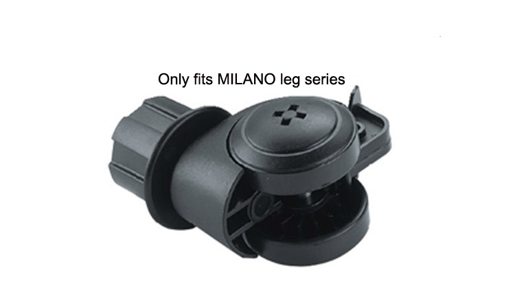 Casters for MILANO legs, 2 wheels with brake, set of 4 (fits only our Milano legs)