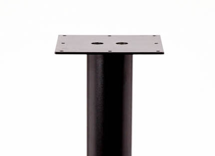 "KATRINA Black Steel Leg, 3"" round, SINGLE LEG"