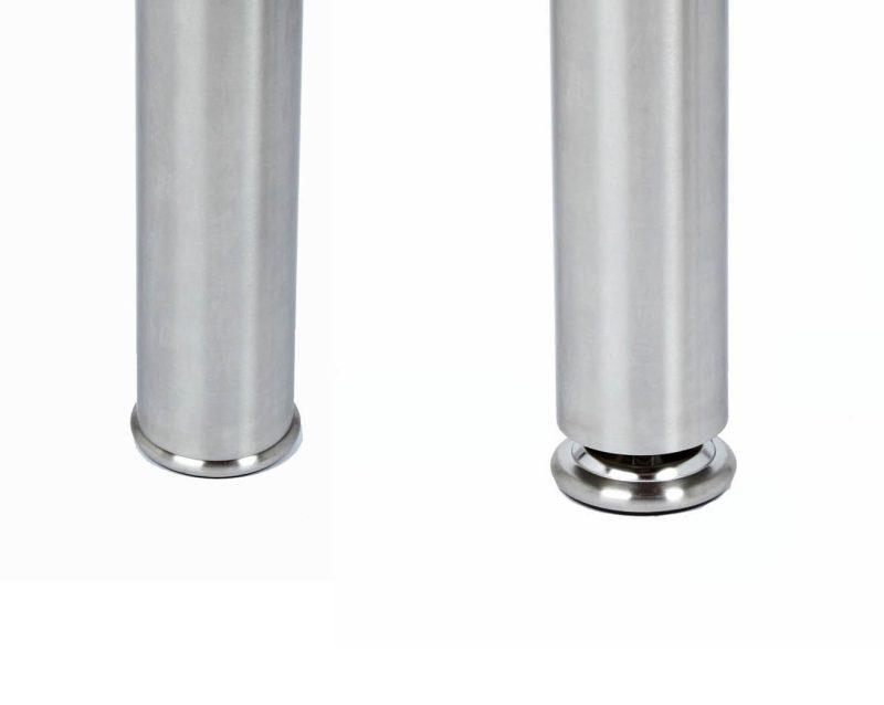 "FLORENCE stainless steel leg, 3"" diameter, round"