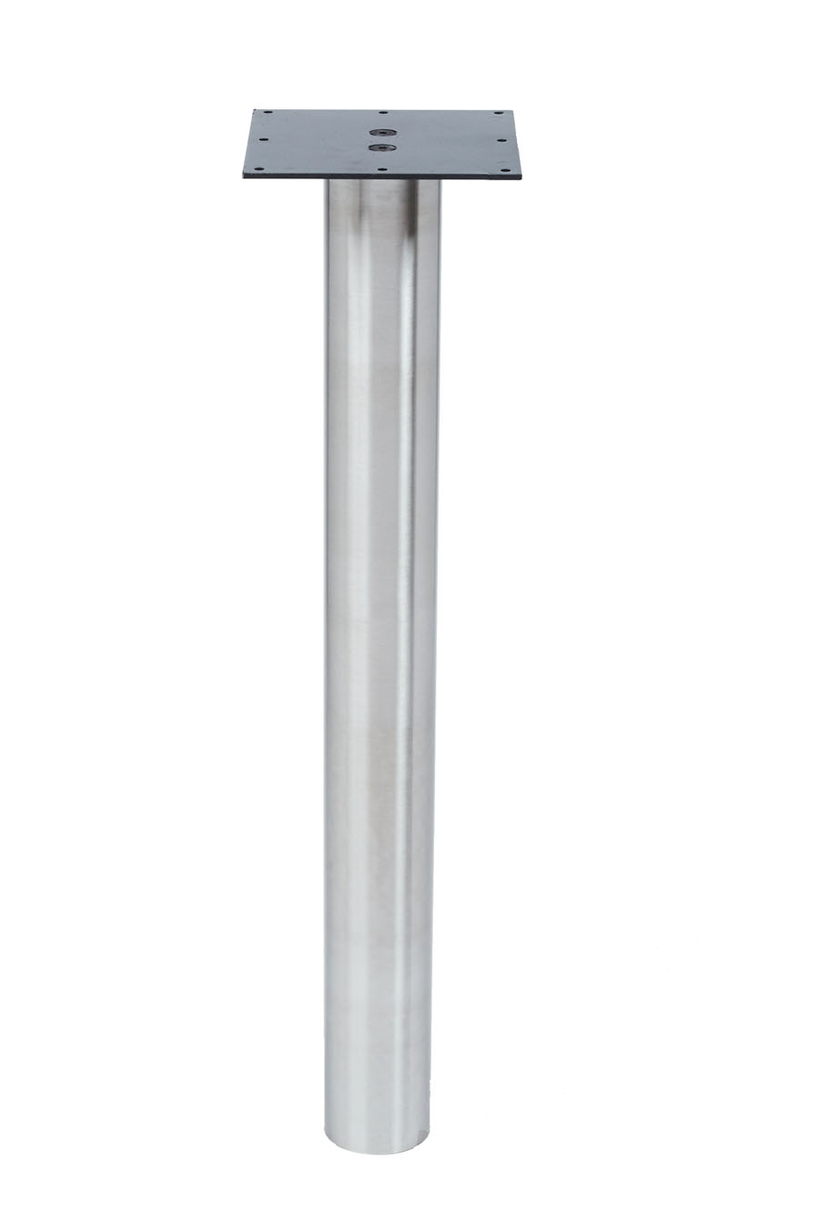STEEL LEG: KATRINA Stainless Steel Leg, 3″ Diameter, Round, 1/2″ Adjustable Foot