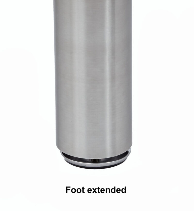 "Katrina Stainless Steel Leg, 2 3/8"" ROUND, SINGLE LEG"
