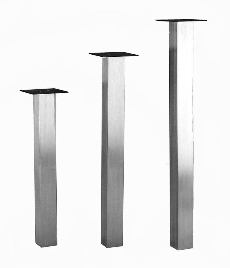 "KATRINA Stainless Steel, 3"" SQUARE, SINGLE LEG"