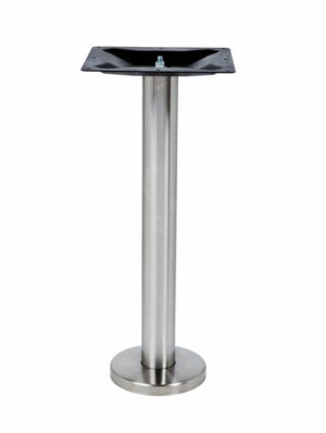ROVER BAR HEIGHT TABLE LEG, floor bolt down table leg, stainless steel metal