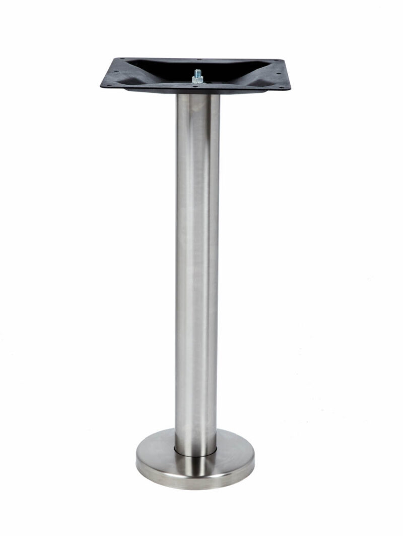 ROVER BAR HEIGHT TABLE LEG, floor bolt down table leg, stainless steel metal