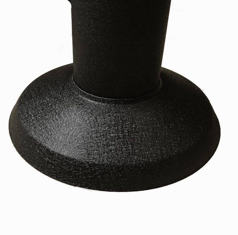 RIVER Floor Bolt Base, black powder coated, rod style