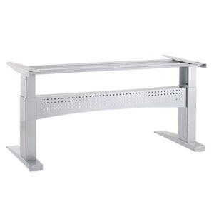 """501-11 Desk Frame, 330 lbs, 45""""/61""""/77"""" width, **Black and Silver**"""