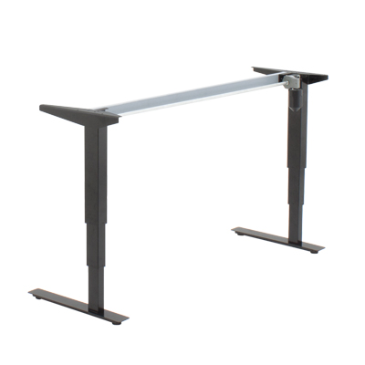501-37 Desk Frame, low 21″ to 47″ height adjustment,  220 lbs lift, no bar